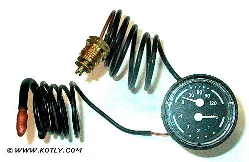 Termometr do kotła VIADRUS U 22 mały 42mm