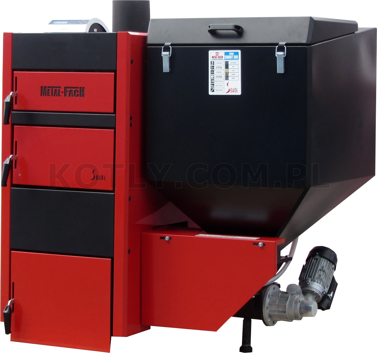 Piec z podajnikiem na ekogroszek Metal-Fach Smart EKO 15 kW