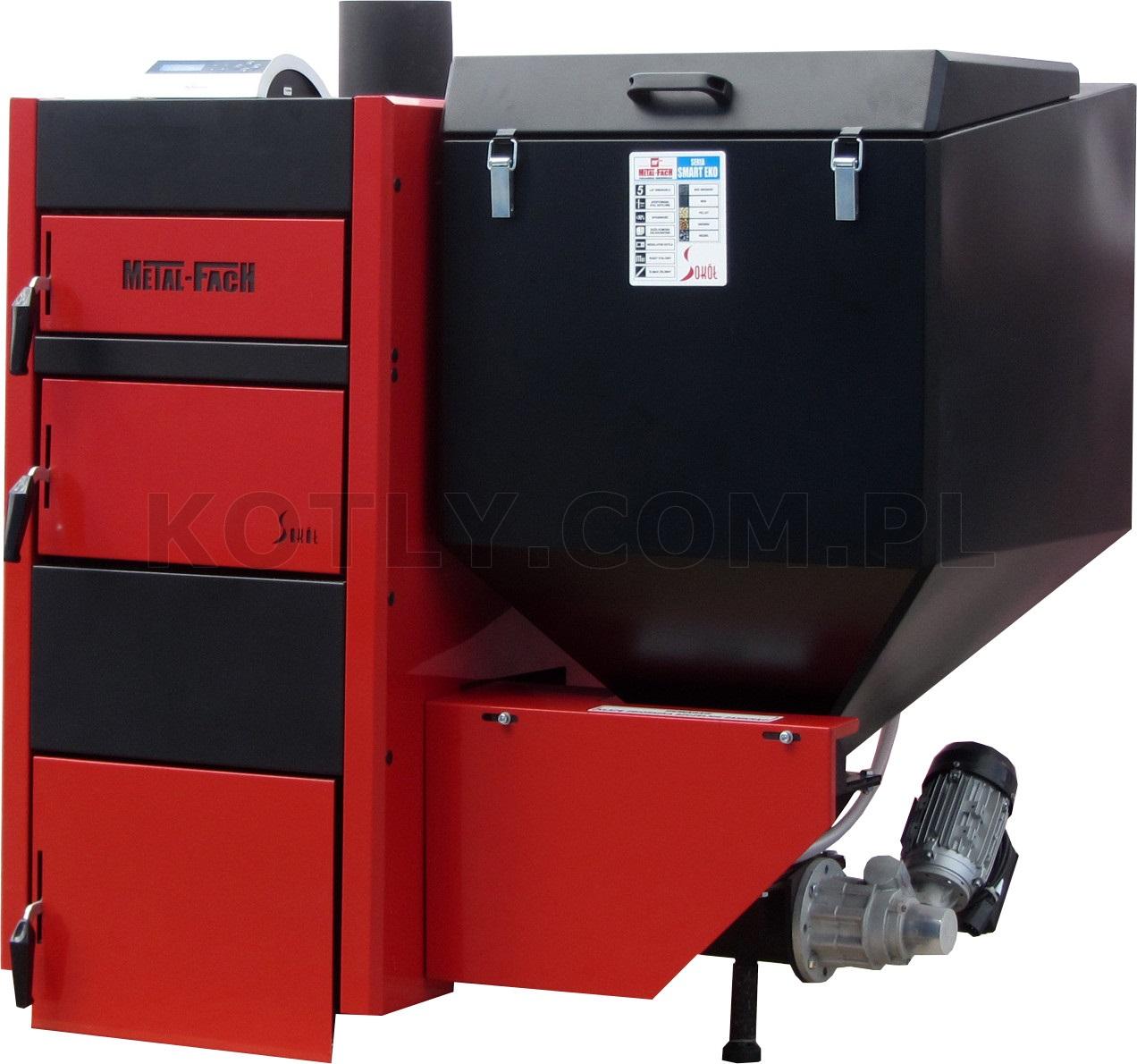 Piec z podajnikiem na ekogroszek Metal-Fach Smart EKO 25 kW