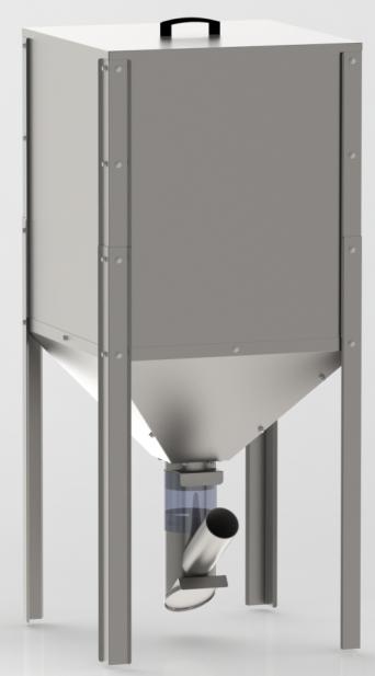 Zasobnik - silo na Pellet dla VIADRUS A0C / A2C ocynkowany -  300 Litrów