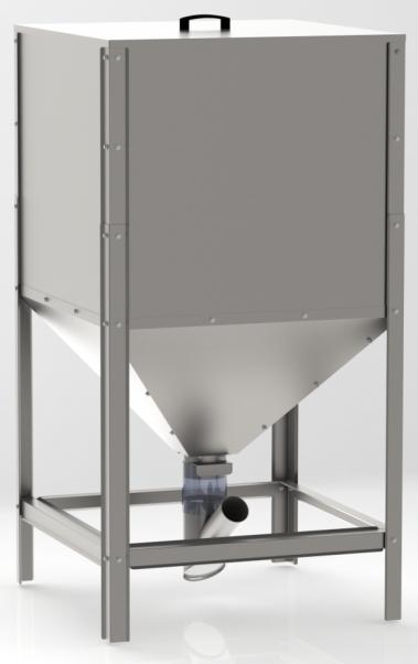 Zasobnik - silo na Pellet dla VIADRUS A0C / A2C ocynkowany - 600 Litrów
