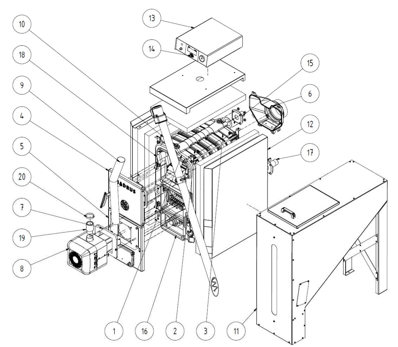 Kessel Viadrus A0C LP - 5 Glieder - 20 kW - Kessel, Heizkessel ...