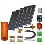 Solar package ENSOL (5 collectors ES1V 2,0S Cu-Cu) /2W.500/STDC/S35 for 6 - 8 people family