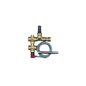 Two-way thermal release valve SYR 5067 - 3/4 with pressure reducing valve (capillary: 1,3 meter)