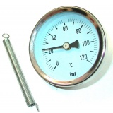 Adhesieve thermometer INTROL with a spring - up to 120 Centigrade