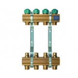 "Manifold   KAN - 1"" with lockshield valves - 6 heating circuits"