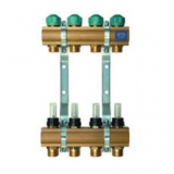 "Manifold   KAN - 1"" with lockshield valves - 4 heating circuits"