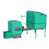 Automatic set for biomass burning AZSB 120 GZ with cast-iron burner 120kW and automatic ash removal