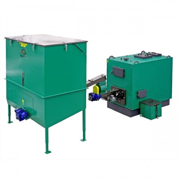 Automatic set for biomass burning AZSB 240 GZ with cast-iron burner 240kW with automatic ash removal and scuffolding