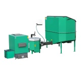 Automatic set for biomass burning AZSB 100 GC with ceramic burner 100kW  and automatic ash removal