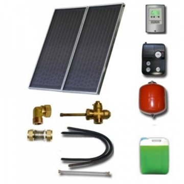 Solar package for 2-3 persons without hot water tank - 2 x collectors ES1V 2,0S, Cu-Cu, STDC, S18