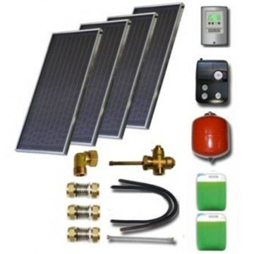 Solar package for 4-6 persons without hot water tank - 4 collectors ES1V 2,0S Cu-Cu, STDC, S35