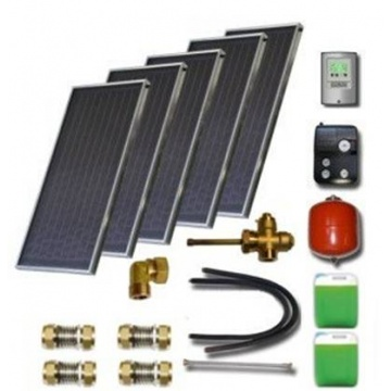 Solar package for 6-8 persons without hot water tank - 5 collectors ES1V 2,0S Cu-Cu, STDC, S35