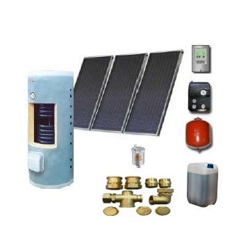 Complete solar package GALMET  PREMIUM PLUS (3 collectors KSG 20) /Galmet 2W.300/TDC-3/S24 for 3 - 5 people family