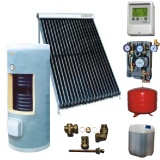 Complete solar package GALMET    STANDARD TUBE (1 vacuum collector KSG PT20) /Galmet 2W.200/STDC for 2 or 3 people family