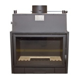 Fireplace with a water jacket  PP690A CO - 18 kW