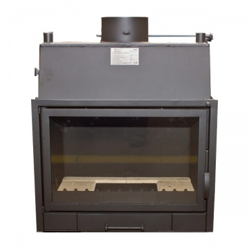 Fireplace with a water jacket  PP690A CO - 22 kW