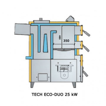 Boiler for coal and culm TECH ECO DUO 25kW