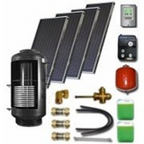 Complete solar package  for support of the central heating (4 collectors ES2V 2,65S Cu-Cu) / 500-200 /STDC/S35) for 6 - 8 people family