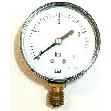 "Manometer INTROL - 4 bar (Gewinde 1/4"" unten)"