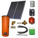 Complete solar package ENSOL (2 collectors ES2V 2,65S Cu-Cu) /2W.300/STDC/S24 for 3 or 4 people family