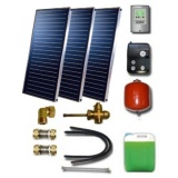 Solar package for 5-7 persons without hot water tank - 3 collectors ES2V 2,65S Cu-Cu, STDC, S35