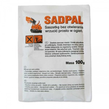 100 g Additive to solid fuels SADPAL II - soot combustion catalyst