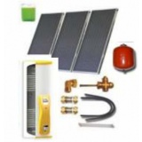 Complete solar package IT (3 collectors ES1V 2,0S Cu-Cu/ IT 2W.300) for 3 or 5 people family