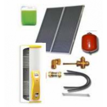 Complete solar package IT  (2 collectors ES2V 2,65S Cu-Cu/ IT 2W.300) for 2 or 3 people family