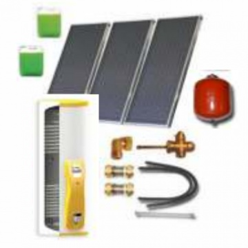 Complete solar package IT  (3 collectors ES2V 2,65S Cu-Cu/ IT 2W.500) for 4 or 6 people family