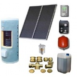 Complete solar package GALMET   PREMIUM  LARGE (2 collectors KSG 26) /Galmet 2W.300/TDC-3/S24 for 3 - 4 people family
