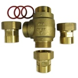 3-way thermic valve 32mm (5/4) REGULUS TSV2 61°C+ connectors 32mm (5/4)