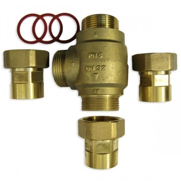 3-way thermic valve 50mm (2) REGULUS TSV2 61°C+ connectors 50mm (2)