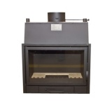 Fireplace with a water jacket  PP690A CO - 15/11 kW