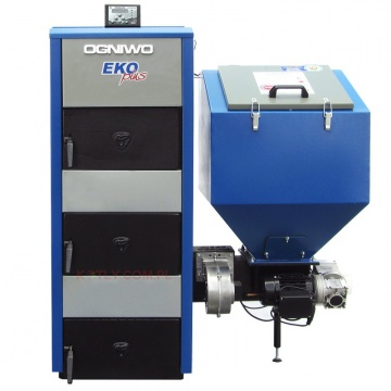 Boiler for coal and culm OGNIWO EKO PLUS - 25 kW with internet module control