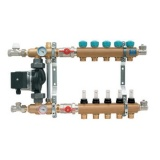 "Manifold   KAN - 1"" with mixing device and flowmeters - 5 heating circuits"
