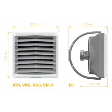 Hot water air heater Volcano VR1 EC