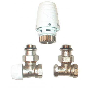 Honeywell VT3001 set angle- Thermostatic head + Thermostatic valve + Lockshield valve