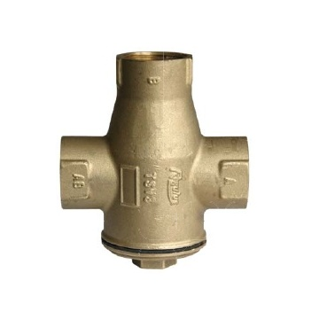 3-way thermic valve 25mm (1 inch) REGULUS TSV3B 65°C with automatic bypass balancing