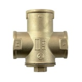 3-way thermic valve 32mm (5/4 inch) REGULUS TSV5B 45°C with automatic bypass balancing
