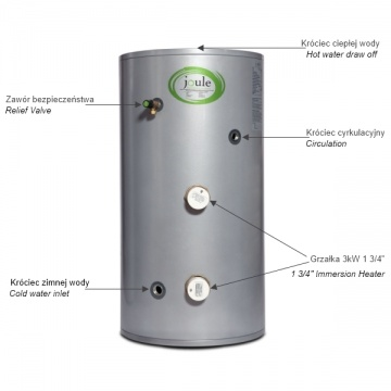 Storage water heater Cyclone 125 L ErP C without coil