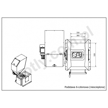 Conversion kit PROSAT 3 class for Viadrus U22, U26 and DAKON FB boiler - 6 segments