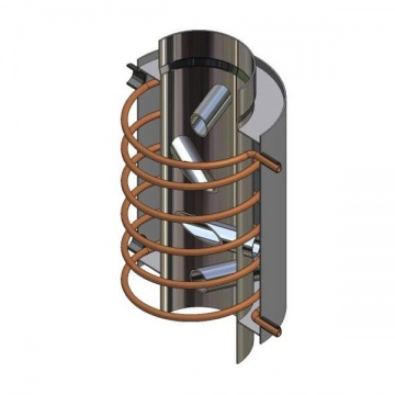 Turbodym water heater with coil