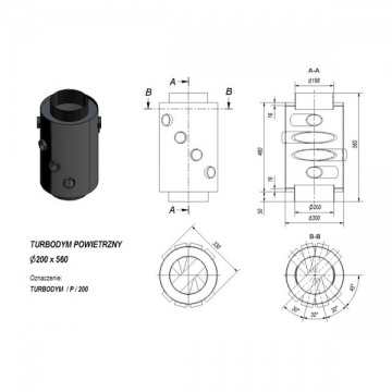 Turbodym air heater with fi 200