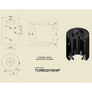 Turbodym water vertical heater