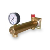 Brass 6 bar safety group for DHW