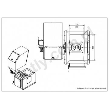Conversion kit PROSAT 3 class for Viadrus U22, U26 and DAKON FB boiler - 7 segments