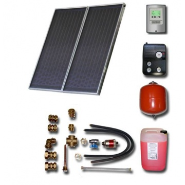 Solar package for 2-3 persons without hot water tank - 2 x collectors ES2V 2,0S AL, STDC, S18