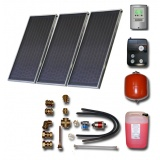 Solar package for 3-5 persons without hot water tank - 3 x collectors ES2V 2,0S AL, STDC, S24