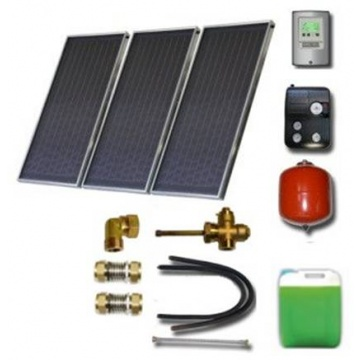 Solar package for 3-5 persons without hot water tank - 3 x collectors EM1V 2,0S Cu-Cu, STDC, S24